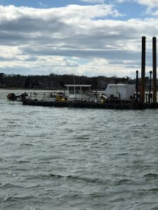 New dredge - currently anchored in Poppy Bay